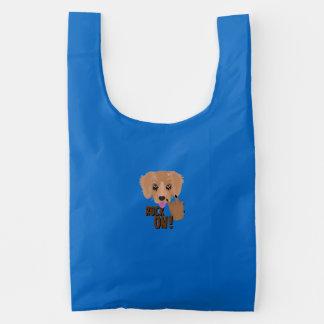Heavy metal Puppy rock on Reusable Bag