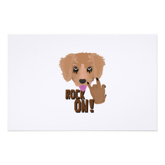 Heavy metal Puppy rock on Stationery