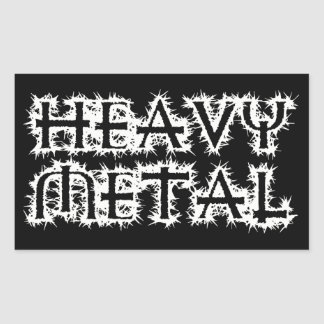 Heavy Metal Rectangular Sticker