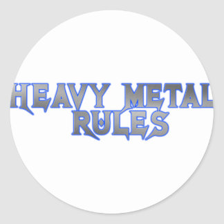 HEAVY METAL RULES CLASSIC ROUND STICKER
