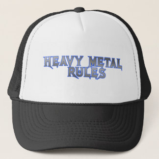 HEAVY METAL RULES TRUCKER HAT