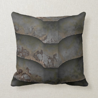 Heavy Metal Rusted Lapped Armor Plating Hull Pillo Throw Pillow