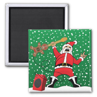 Heavy Metal Santa Magnet