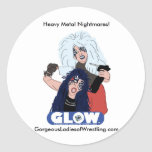 Heavy Metal Sisters Classic Round Sticker