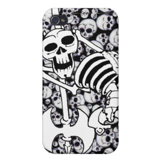 Heavy Metal Skeleton Cover For iPhone 4