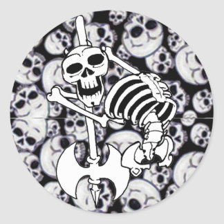 Heavy Metal Skeleton Stickers