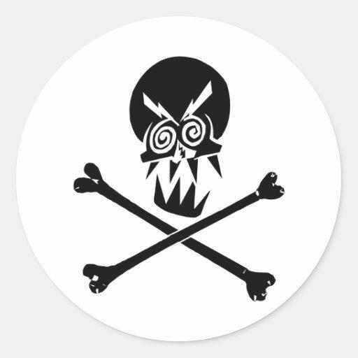 Heavy Metal Skull Classic Round Sticker