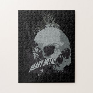 Heavy Metal Skull Jigsaw Puzzle puzzle
