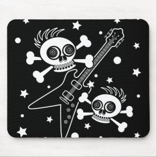 Heavy Metal Skulls Mouse Pad