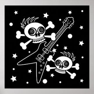 Heavy Metal Skulls Poster