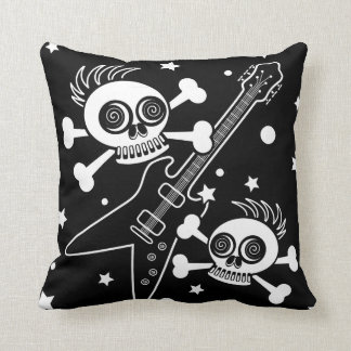 Heavy Metal Skulls Throw Pillow
