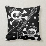 Heavy Metal Skulls Throw Pillow