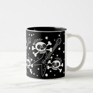 Heavy Metal Skulls Two-Tone Coffee Mug