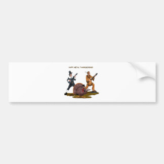 Heavy Metal Thanksgiving Gift Items Bumper Stickers