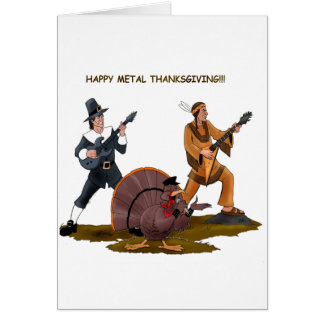 Heavy Metal Thanksgiving Gift Items Greeting Card