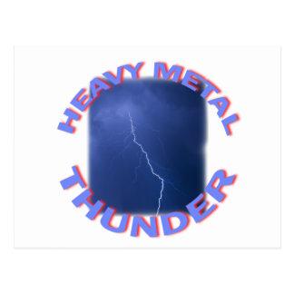 heavy metal thunder postcard