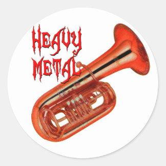 Heavy Metal Tuba Classic Round Sticker