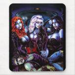 Heavy Metal Vampire Girls Mouse Pad