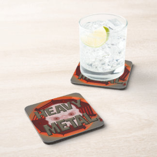 Heavy Metal with Scull Drink Coaster