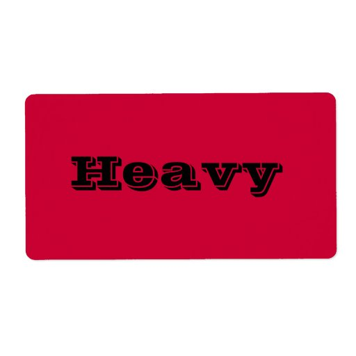 Heavy Moving Labels In Red Zazzle