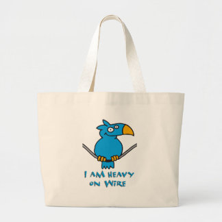 heavy on wire - heavy on wire tote bags