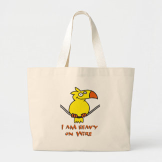 heavy on wire - heavy on wire tote bag