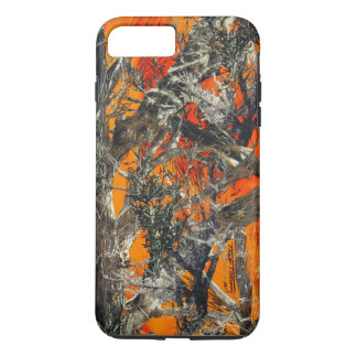 Heavy Orange Camo iPhone 7 Plus Case