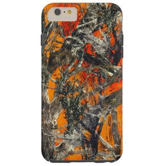 Heavy Orange Camo Tough iPhone 6 Plus Case