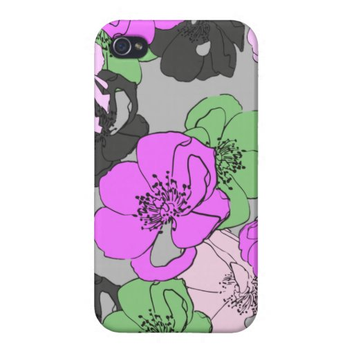 Heavy Petal-Grey Case For iPhone 4
