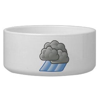 Heavy Rain Clouds Pet Food Bowl
