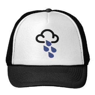 Heavy Rain Retro weather forecast symbol Mesh Hats