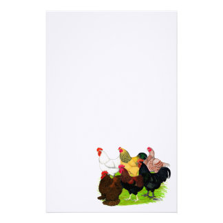 Heavy Rooster Assortment Customized Stationery