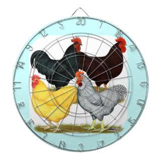 Heavy Rooster Chicken Quartet Dart Boards