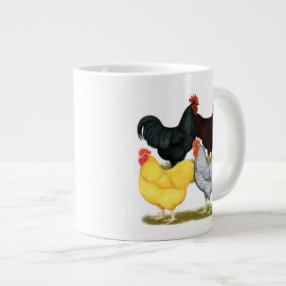 Heavy Rooster Chicken Quartet Large Coffee Mug