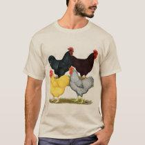 Heavy Rooster Chicken Quartet T-Shirt