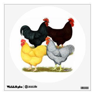 Heavy Rooster Chicken Quartet Room Stickers