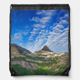 Heavy Runner And Reynolds Mountain In Morning Drawstring Bag