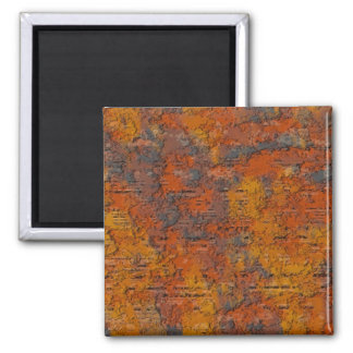 Heavy Rust 2 Inch Square Magnet