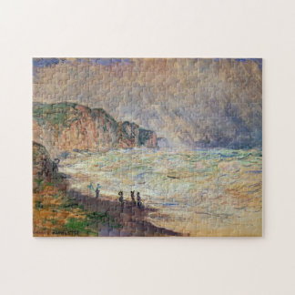 Heavy Sea at Pourville Monet Fine Art Jigsaw Puzzle
