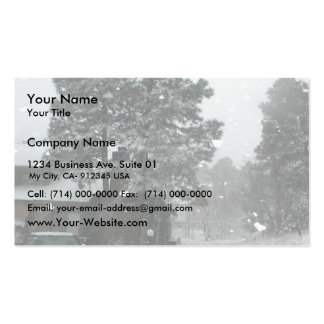 Heavy Snowfall In The Day Double-Sided Standard Business Cards (Pack Of 100)