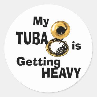 Heavy Tuba Classic Round Sticker