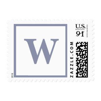 Heavy Weddings Alphabet Cool Grey Postage Stamp