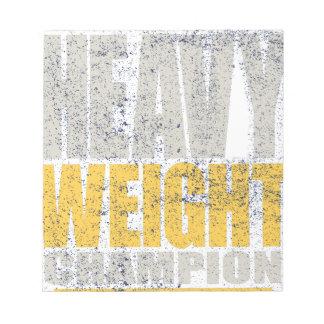 Heavy weight notepad