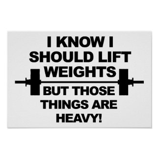 Heavy Weights Funny Poster