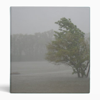Heavy Windy Storm over a already Flooded Lake 3 Ring Binder