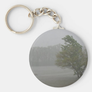 Heavy Windy Storm over a already Flooded Lake Keychain