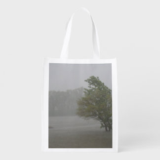 Heavy Windy Storm over a already Flooded Lake Reusable Grocery Bag