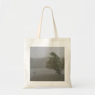 Heavy Windy Storm over a already Flooded Lake Tote Bag