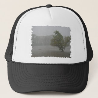 Heavy Windy Storm over a already Flooded Lake Trucker Hat