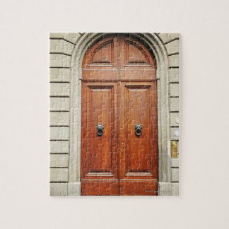 Heavy wooden doors, Florence, Italy Jigsaw Puzzle